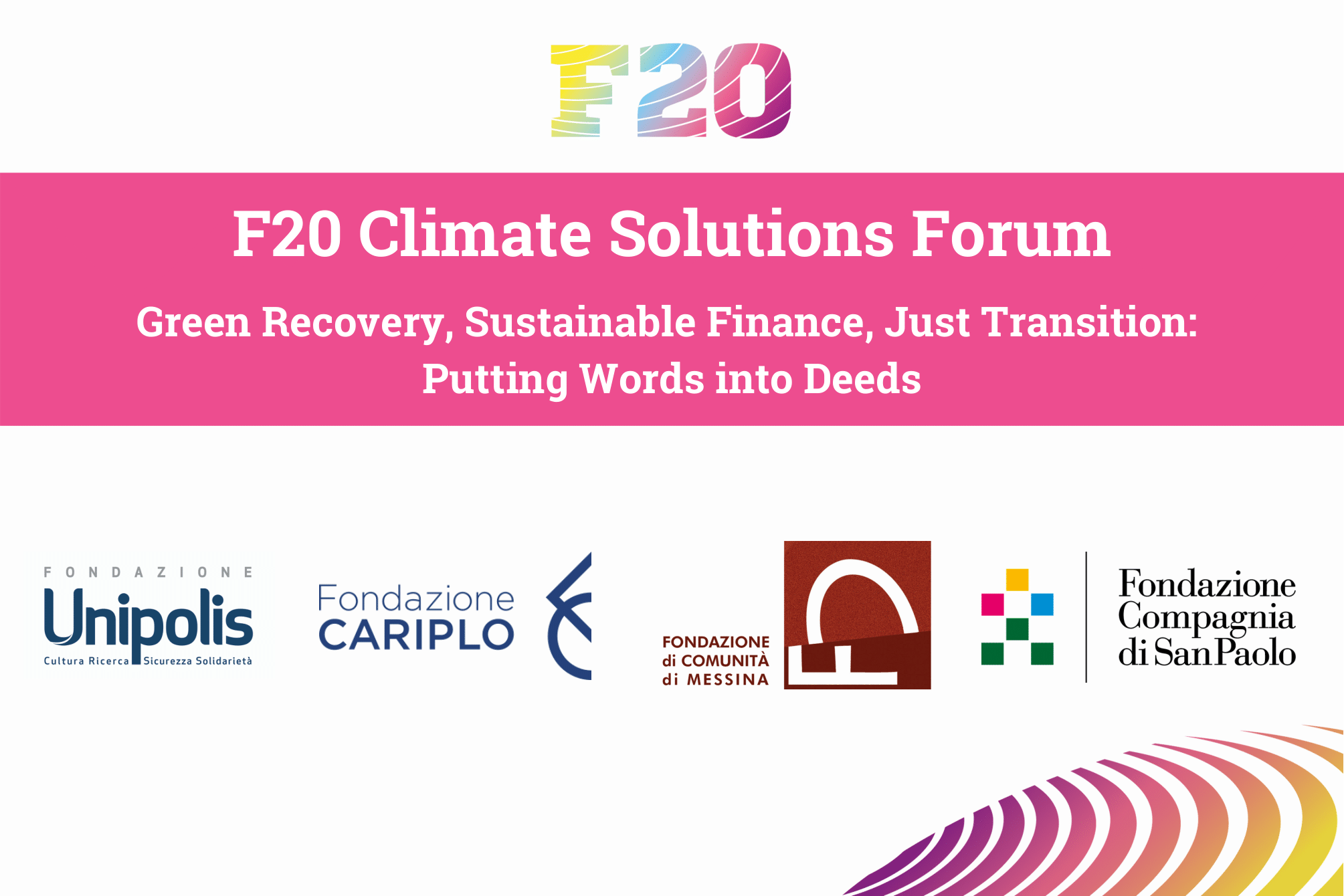F20 Climate Solutions Forum