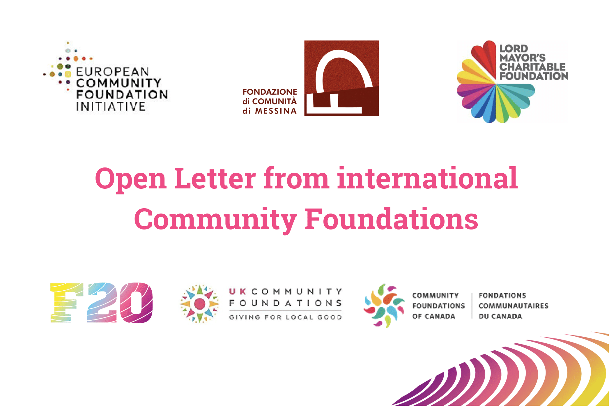 Open Letter by International Community Foundations