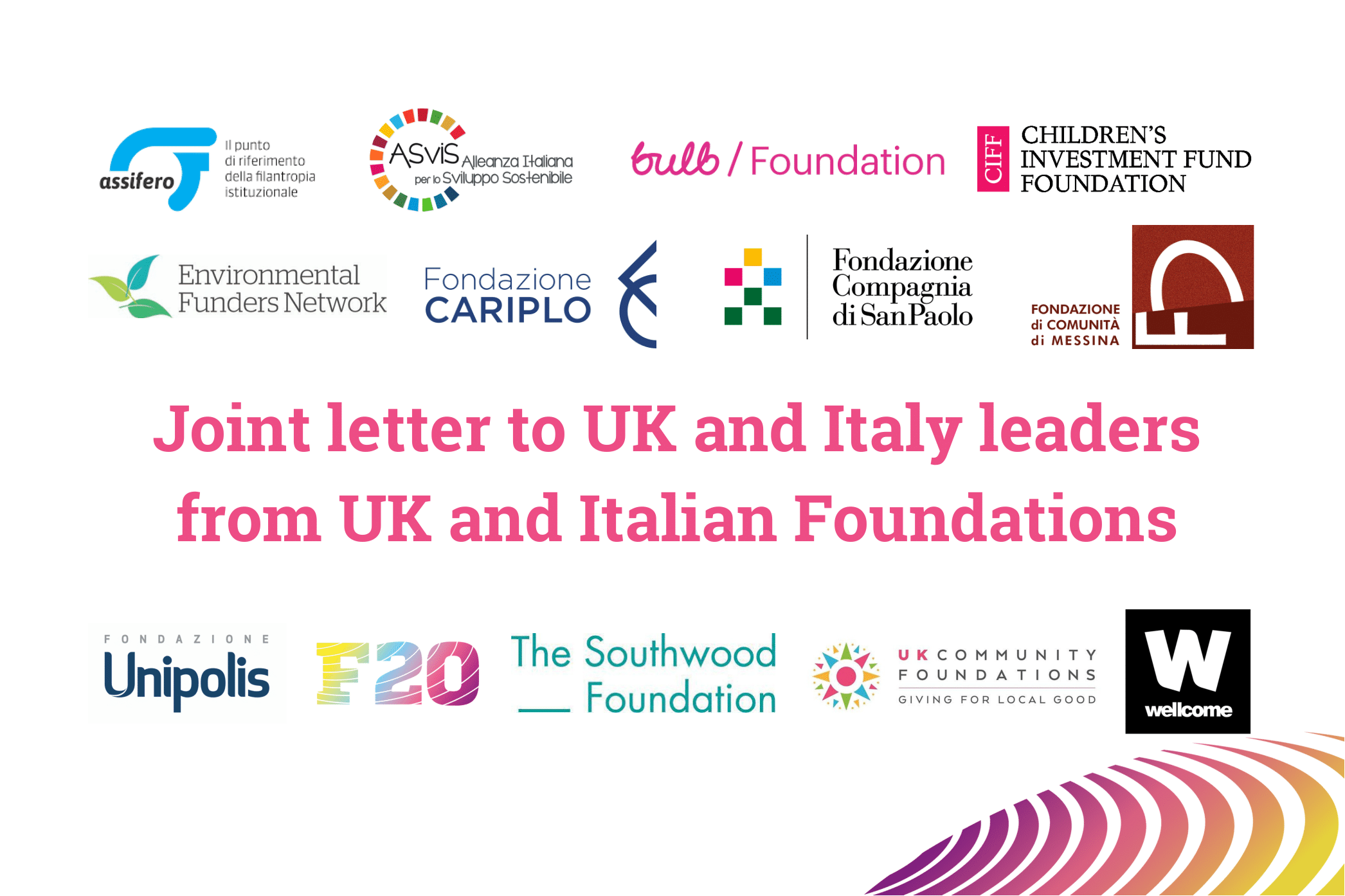 Joint Letter to UK and Italy Leaders